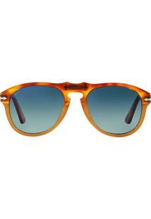 3facbf5b4f138 ... Óculos Persol Po0649 1025S3 Tartaruga Havana Claro Lente Polarizada  Azul Degradê Tam 54