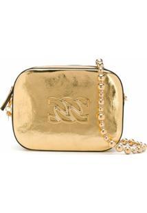 Casadei Bolsa Tiracolo Mini Com Aplicação De Logo - Dourado