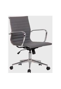 Cadeira Office Sevilha Alta Pu Cinza
