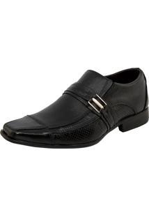 Sapato Masculino Social Liso Com Fivela Preto Parthenon Shoes - Sr711