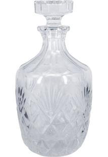Garrafa Decorativa De Vidro Transparente - Incolor - Dafiti