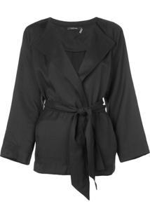 Natori Belted Jacket - Preto