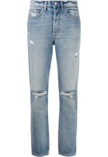 Boyish Denim Calça Jeans Easy Rider Com Efeito Destroyed - Azul