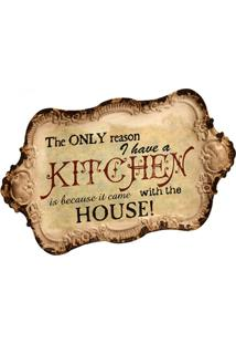 Quadro Decorativo De Parede Out Of Kitchen - Unissex