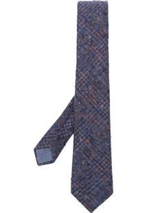 Al Duca D'Aosta 1902 Gravata Com Padronagem - Azul