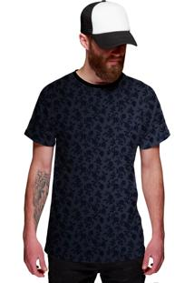 Camiseta Di Nuevo Azul Flowers Casual Azul
