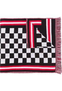 Mcq Alexander Mcqueen Cachecol Xadrez Com Logo - Vermelho