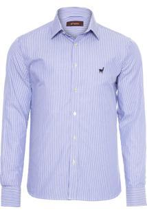 Camisa Masculina Luiz Roma - Azul