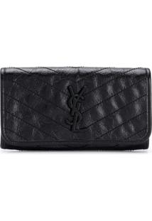 Saint Laurent Carteira Niki - Preto