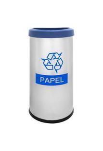 Lixeira Seletiva Recycling Papel 40,5 Litros - Brinox