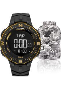 c57dcffc22029 ... Kit Relógio Masculino Mormaii Com Mochila Advertmonk005