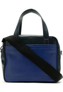 Mara Mac Bolsa De Couro Bicolor - Azul