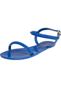Rasteira Colcci Nicole Color Spikes Azul