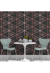 Papel De Parede Degrade Triangles Black