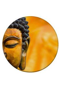 Tapete Love Decor Redondo Wevans Buda Amarelo 94Cm