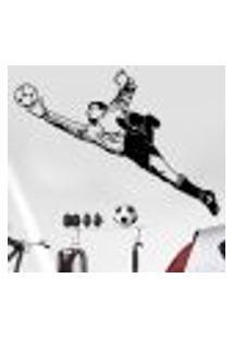Adesivo De Parede Esportes Goleiro Defendendo - P 77X55Cm