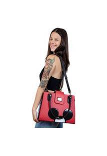 Bolsa Mickey Feminina Vermelha Com Alça Transversal Removível E Alças De Ombro