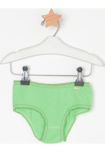 Calcinha Boneca Com Recortes- Verde- Lupolupo