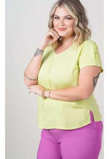 Blusa Ampla Almaria Plus Size New Umbi Detalhe Pos
