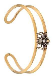 Alexander Mcqueen Bracelete Com Aplicações - Dourado