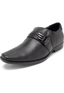 Sapato Social Couro Pegada Liso Preto