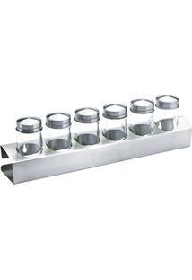 Jogo Porta Condimentos - 6 Potes De 80 Ml - Bon Gourmet - 35,5X11,2 Cm