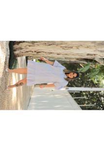 Vestido Almaria Plus Size Leeban Midi Botões Front