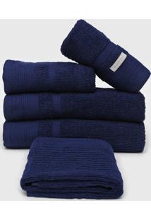Jogo De Banho Buddemeyer 5Pã§S London 70 X 135 Azul - Azul - Dafiti