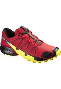Tênis Speedcross 4 Masculino Vermelho/Amarelo 39 - Salomon