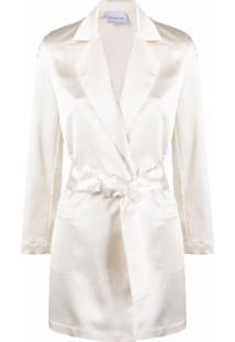 Antonella Rizza Blazer Com Amarração Na Cintura - Branco