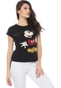 Blusa Cativa Disney Mickey Preta