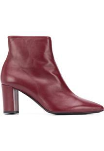 Agl Ankle Boot De Couro - Vermelho