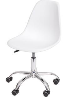 Cadeira Eames Dkr C/ Rodízio Or-1102R – Or Design - Branco