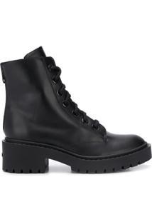 Kenzo Ankle Boot Com Cadarço - Preto