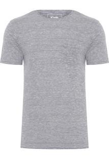 Camiseta Masculina Eco Com Bolso - Cinza