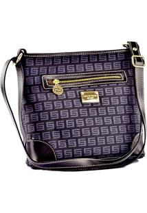 Bolsa Feminina Smartbag Monograma Preta