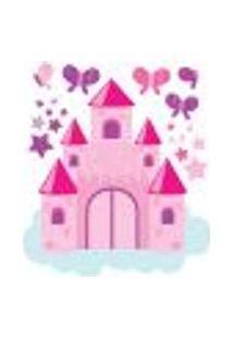 Adesivo De Parede Para Quarto De Menina Castelo Rosa