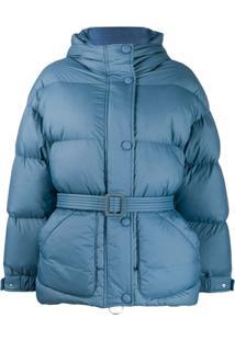 Ienki Ienki Belted Puffer Jacket - Azul