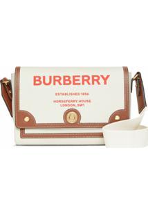 Burberry Bolsa Transversal Note Com Estampa Horseferry - Neutro