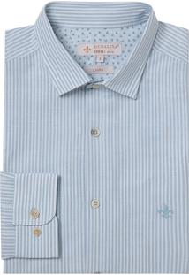Camisa Dudalina Manga Longa Fio Tinto Listrado Masculina (Listrado, 2)