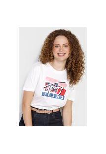 Camiseta Tommy Jeans Logo Fun Branca