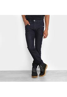 Calça Jeans Skinny Rock & Soda Escura Masculina - Masculino