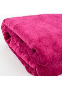 Cobertor Infantil Viagem Parahyba Em Microfibra Com 1 Peça - Cereja
