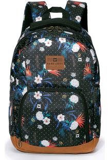 Bolsa Florida Hang Loose Milly Mochila Estampada Feminina - Kanui
