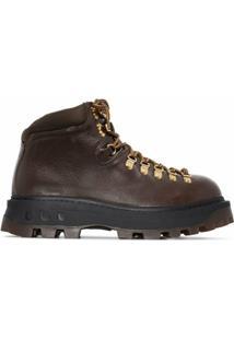 Simon Miller Ankle Boot Com Cadarço - Marrom