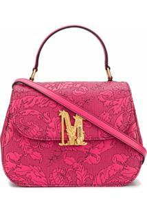 Moschino Bolsa Tote M Com Estampa Floral - Rosa
