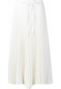 Red Valentino Pleated Drawstring Skirt - Branco