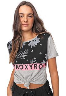 Camiseta Roxy My Girl Cinza