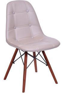 Cadeira Eames Botonãª- Fendi & Marrom- 83X44X39Cmor Design