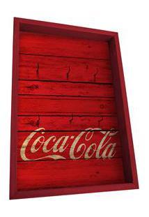 Porta-Chave Urban Coca-Cola Madeira Wood Style Vermelho